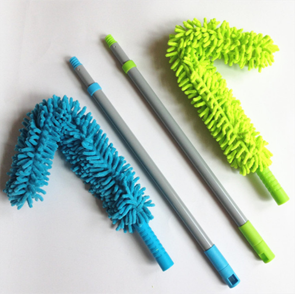 telescopic handle flexible chenille duster for home usage dust cleaning tools