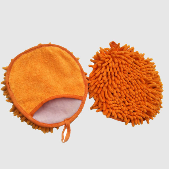 double-side microfiber car wash mitt chenille wash glove