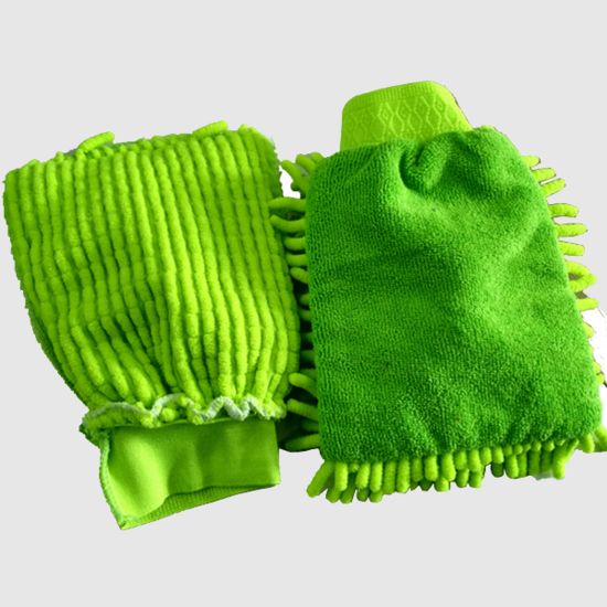 Microfiber car wash mitt double-sided chenille car wash glove