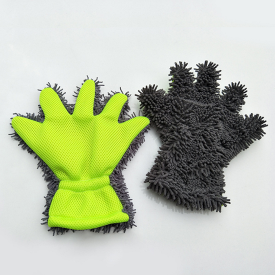 Multipurpose Microfiber Household Cleaning Removable chenille Finger wash Gloves