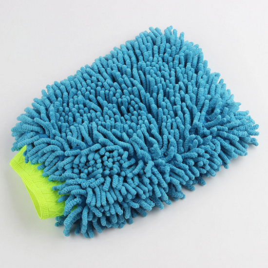 double side use chenille wash mitt car cleaning glove