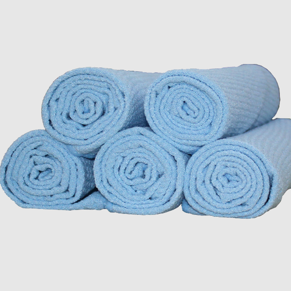 blue Waffle Weave Microfiber Towel cloth Car Cleaning Cloth glass cleaning terry