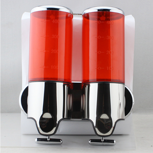 hand soap dispenser,liquid soap dispenser,plastic double soap dispenser