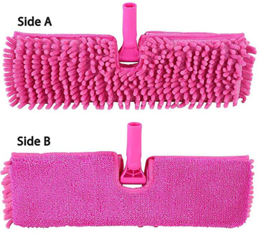wholesale china factory high quality chenille double sided flat mop for floor cleaning tools