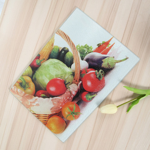 factory direct wholesale tempered glass cutting board for vegetable or cooked food