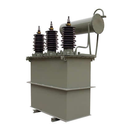 Three phase oil immersed distribution transformer with conservators