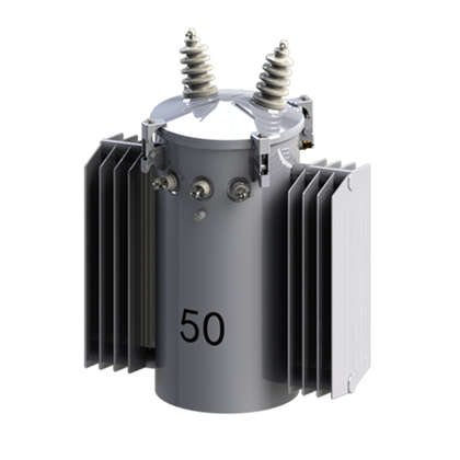 Single phase pole mounted distribution transformer