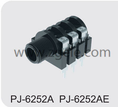 Low price jack pin supplier,PJ-6252A PJ6252AE