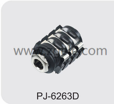 High quality 6.35 audio jack connection factory,PJ-6263D