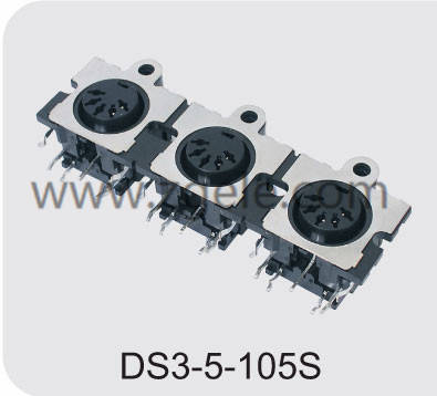 china mini din power connector manufactures,DS3-5-105S