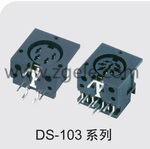 china mini din power connector supplier