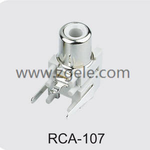 Low price mini jack to rca adapter supplier,RCA-107