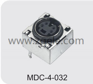 Customized mini din connectors / audio-video combo manufactures