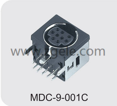 Low price 10 pin din connector power supply factory,MDC-9-001C