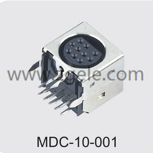 Low price 10 pin din connector power supply exportes,MDC-10-001