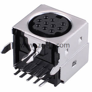 10 Hole Female Din connector Mini Din S Video Connector,MDC-10-004
