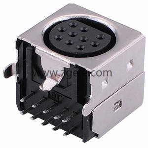 10 Hole Female Din connector Mini Din S Video Connector,MDC-10-005