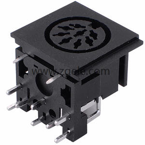 cheap 8pin mini din connector electrical connector supplier