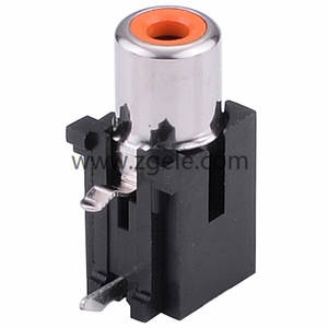 china 3 outlet rca connectors 6 pin RCA Jack for pcb mount manufactures,RCA-112