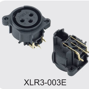 Low price XLR Male Cannon Connector for Loudspeaker factory,XLR3-003E