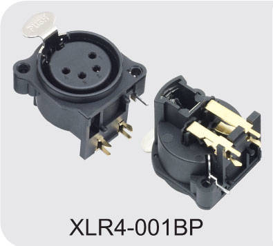 custom-made 3 Pin Xlr Connector Female Audio Plug exportes,XLR4-001BP