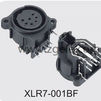 custom-made XLR Audio Combo Socket by Metal Ring supplier,CONNON COMBO CONNECTOR,XLR7-001BF