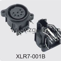 Vertical Double Car Audio And Video Xlr Connector,XLR7-001B