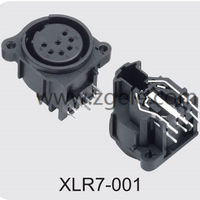 custom-made Male Female XLR Connector with 3  4  5  6 or 7 Pins discount,XLR7-001