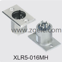 Low price speaker socket XLR Connector exportes,XLR5-016MH