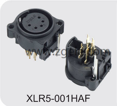Low price female speaker connector factory,XLR5-001HAF