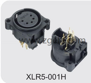 Low price 3 pole vertical XLR audio/light receptacle supplier