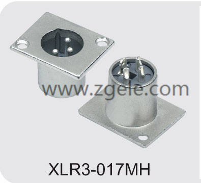 3pin Xlr Connector Coaxial Cable Connector,XLR3-017MH