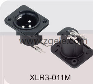 Low price 3 Pin Xlr Connector Female Audio Plug factory