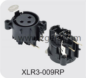 Low price Female XLR 3p receptacle vertical type supplier