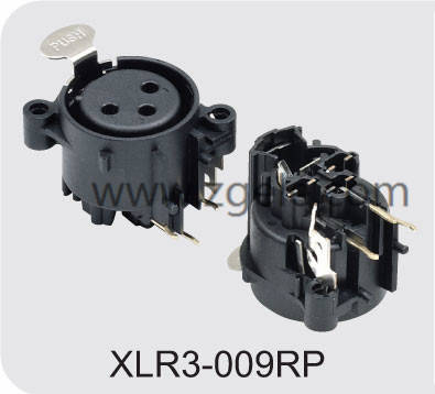 Low price Female XLR 3p receptacle vertical type supplier,XLR3-009RP