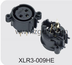 Low price 3 pole vertical XLR audio/light receptacle factory
