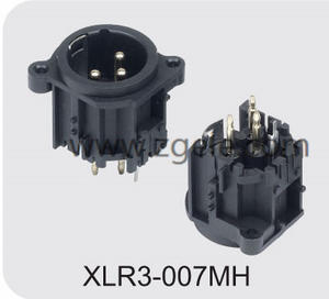 Low price 3-Pin Amplifier Xlr Female Connector For Audio factory
