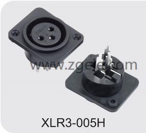 High quality 3 hole female XLR cable receptacle supplier