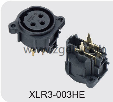 Low price 3 poles XLR male cable connector factory,XLR3-003HE
