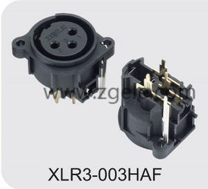 Customized 3p XLR Male Mixer Connector Vertical Pins discount