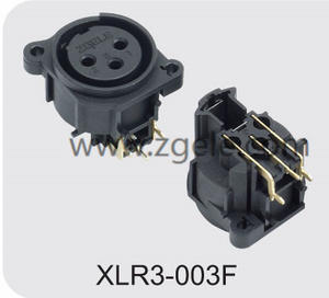 High quality 3pin XLR Male Plug Microphone Connector Vertical Type manufactures