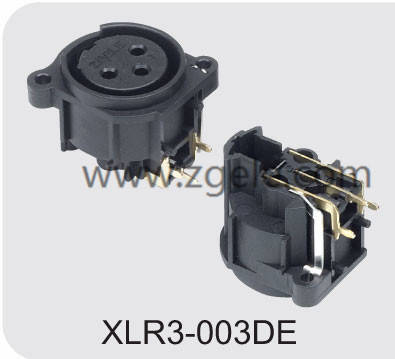 3 hole female XLR cable receptacle,XLR3-003DE