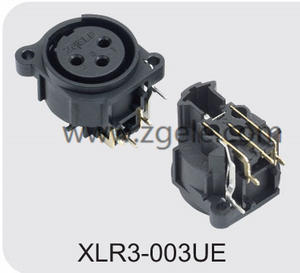 Low price 3p XLR Male Mixer Connector Vertical Pins supplier