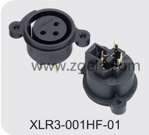 Customized 5000 times panel mount XLR connector brands