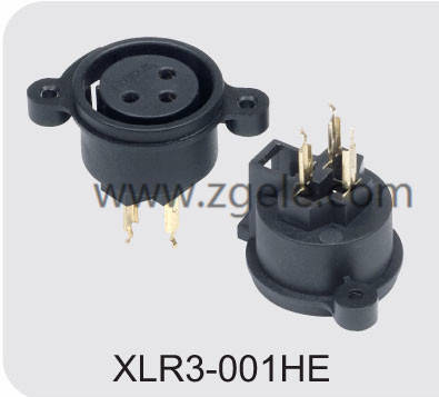 Low price CT XLR panel Connector socket supplier,XLR3-001HE