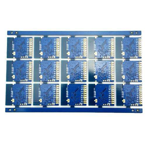 2L FR4 thickness1.6mm blue plated half hole circuit board