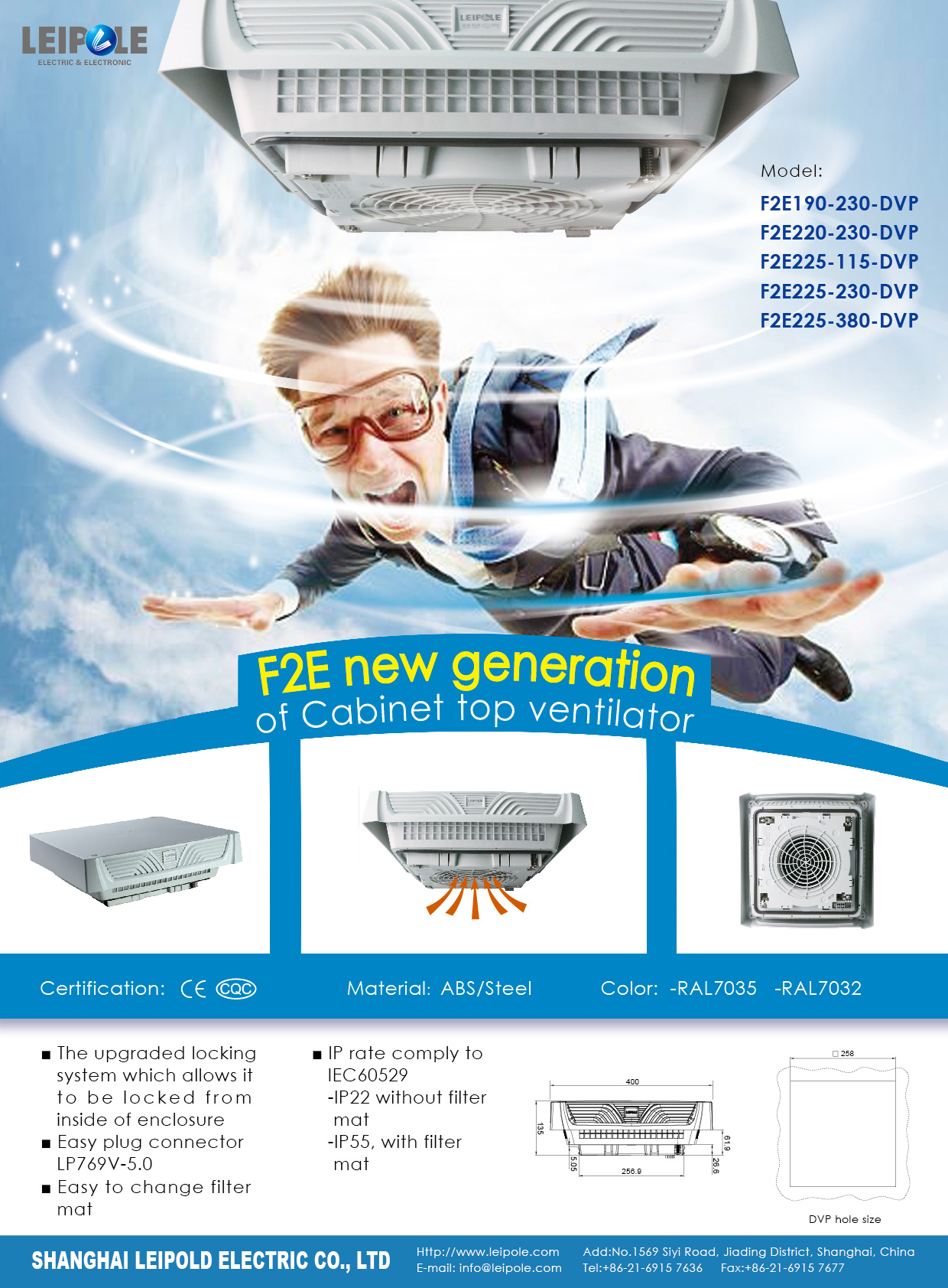 New design of top ventilator