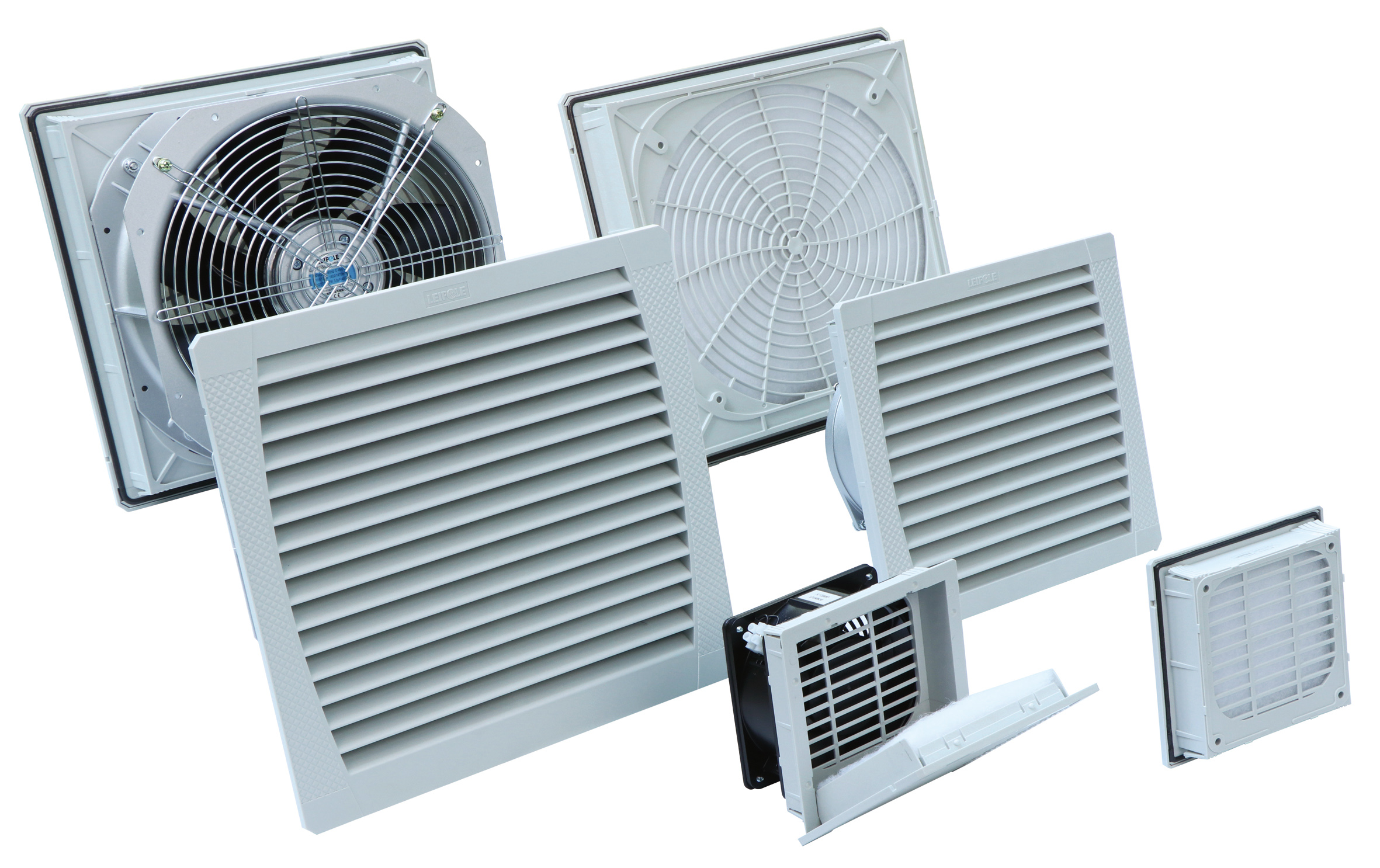 FK5526-D Cabinet 320mm Fan Filter Ventilation with Heat-Resistant Flame