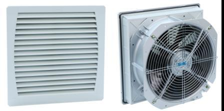 FK5526-D Gabinete 320mm Fan Filter Ventilation na may heat-Resistant Flame