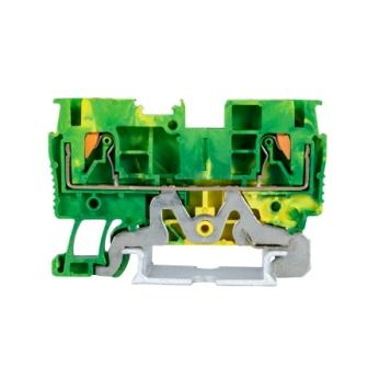 JPT1.5-PE Din Rail Yellow Green Feed Through Earth Ground Terminal Block